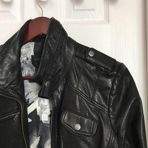 Danier Italian black leather jacket